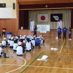 2019いきいき茨城ゆめ大会会場地市小・中学校への障がい者スポーツ体験出前授業を行なっています。